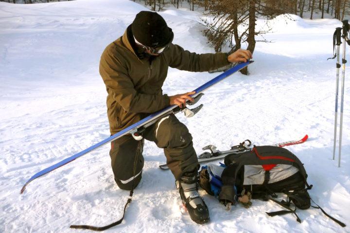 intitiation au ski de rando avec le bureau des guides de grenoble
