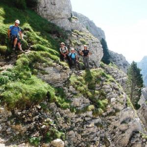 descente à pied du mont aiguille