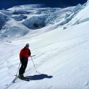 ski vallée blanche sous les séracs