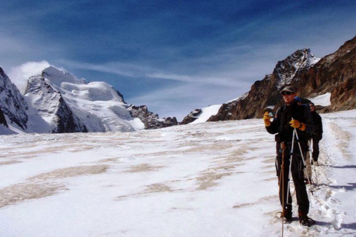 sur le glacier blanc avec les guides de grenoble