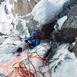 alpinisme hivernal aiguille midi chamonix