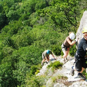 via ferrata de grenoble bastille