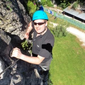 Via ferrata, enterrement de vie de célibataire avec les guides de Grenoble