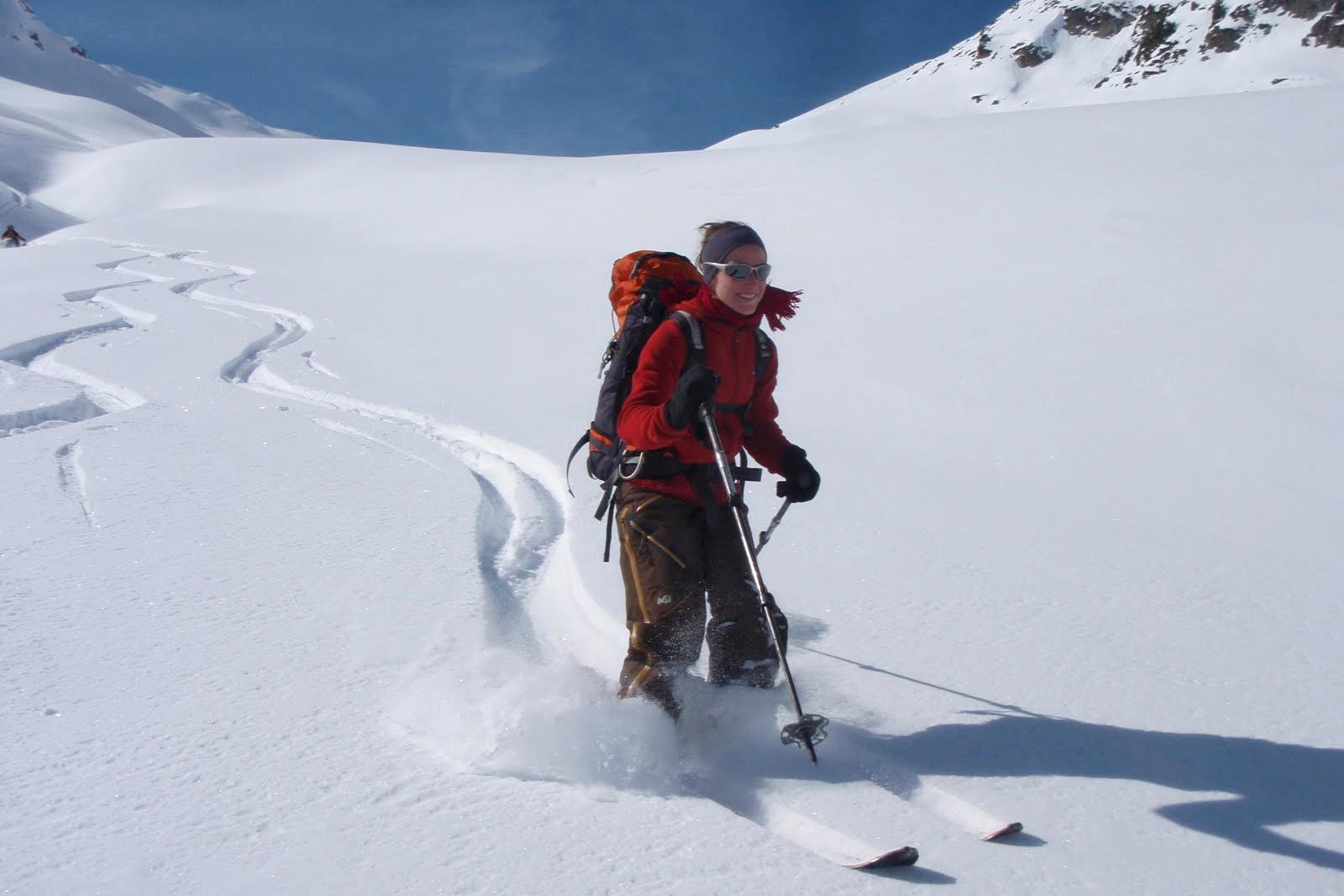 L'Étendard en ski de rando