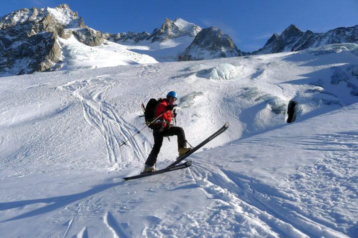 ski sur glacier bureau des guides de grenoble