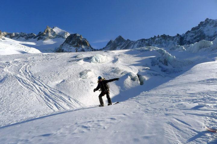 rando et snowboard avec les guides de grenoble