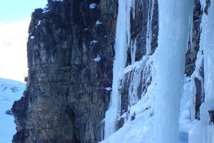 Cascade de glace à Cervières