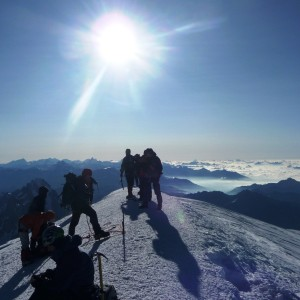 Ascension du Mont blanc avec le bureau des guides de Grenoble