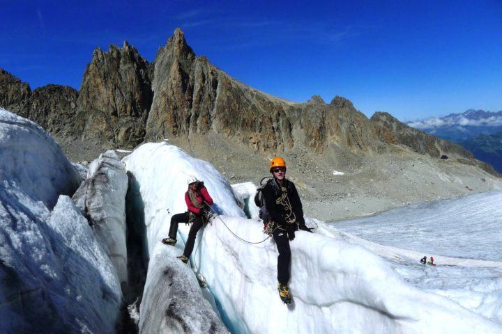 Ecole de glace avec le bureau des guides de Grenoble