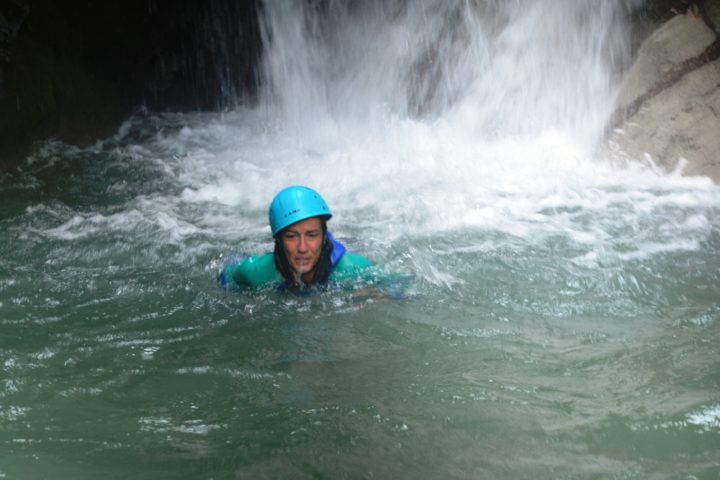nage en canyoning