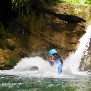 saut dans le canyon du grenant