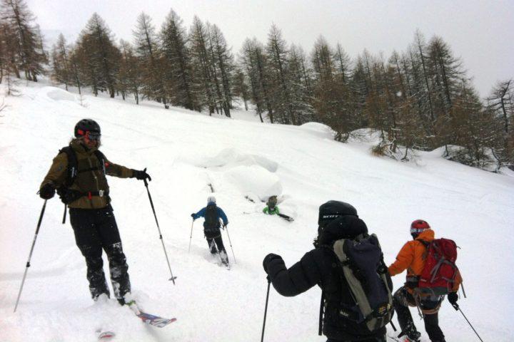 ski aux vallons de la meije avec les guides de Grenoble