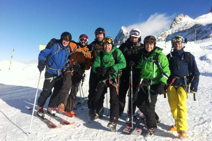 ski aux vallons avec les guides de grenoble