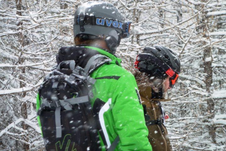 ski en forêt à la grave avec les guides de grenoble