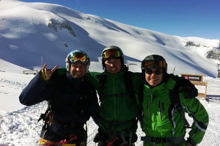 skieurs à la Grave avec les guides de grenoble