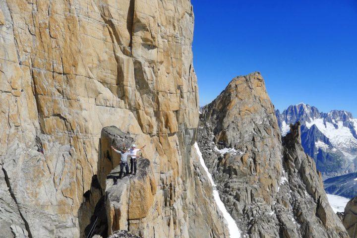 Escalade granite dans le massif du Mont-blanc