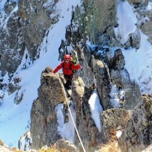 traversée des pics du pin Belledonne alpinisme hivernal