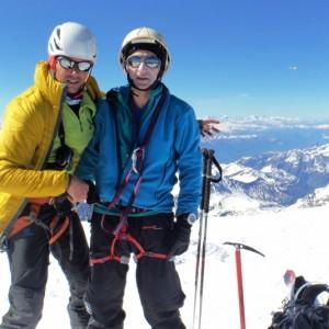 Au Sommet du Mont Blanc avec le bureau des guides de Grenoble