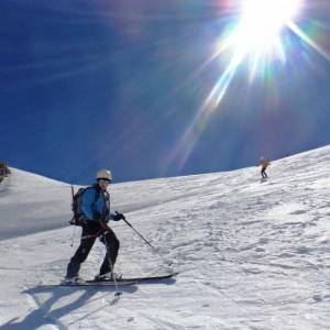 Descente du Mont Blanc vers le petit Plateau