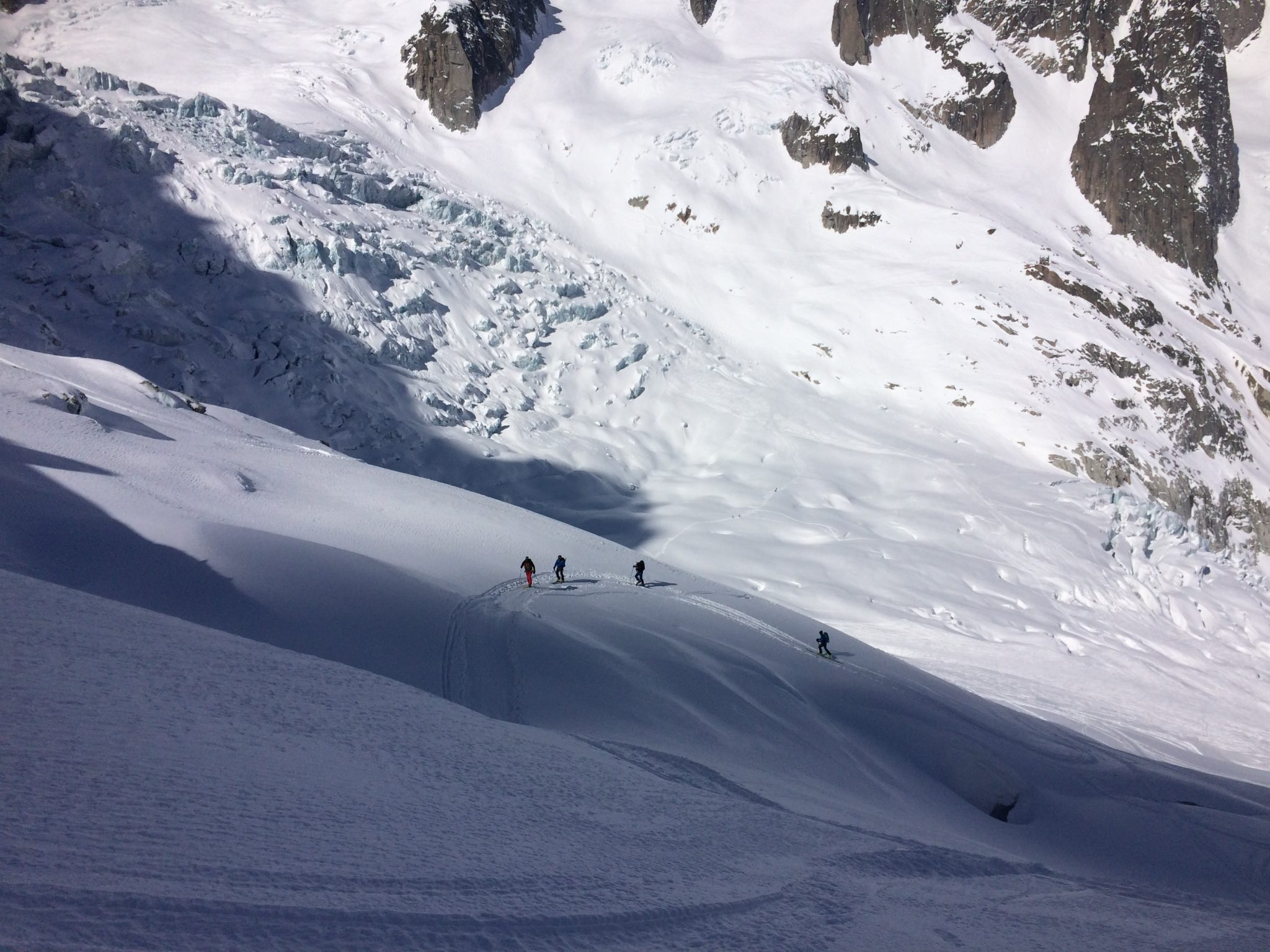 Sur le glacier des Périades