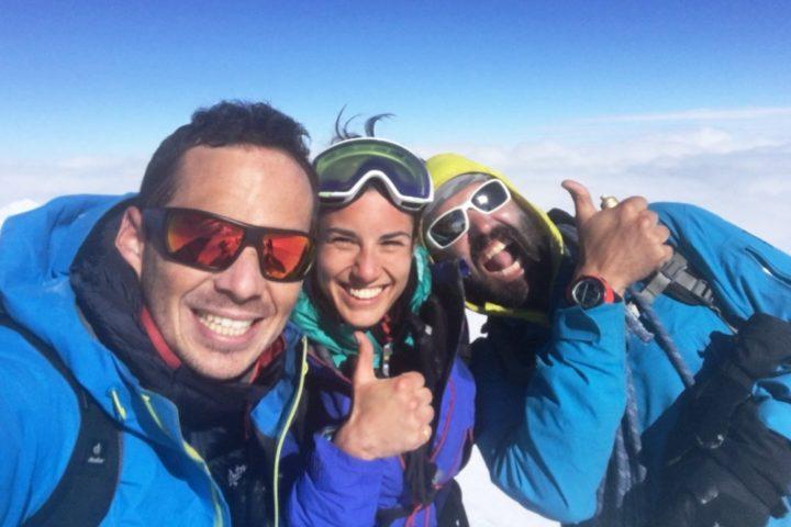 au sommet du mont blanc avec les guides de Grenoble