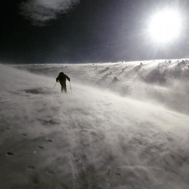 Ski de rando ventilé à la crête de Brouffier