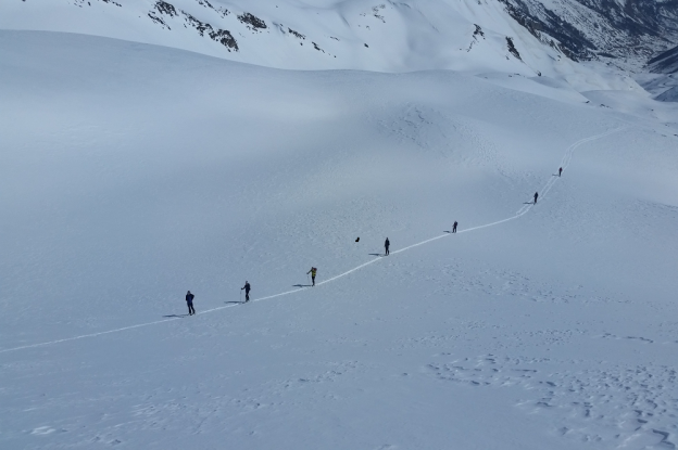 Ski de rando: Seuls  au Lautaret