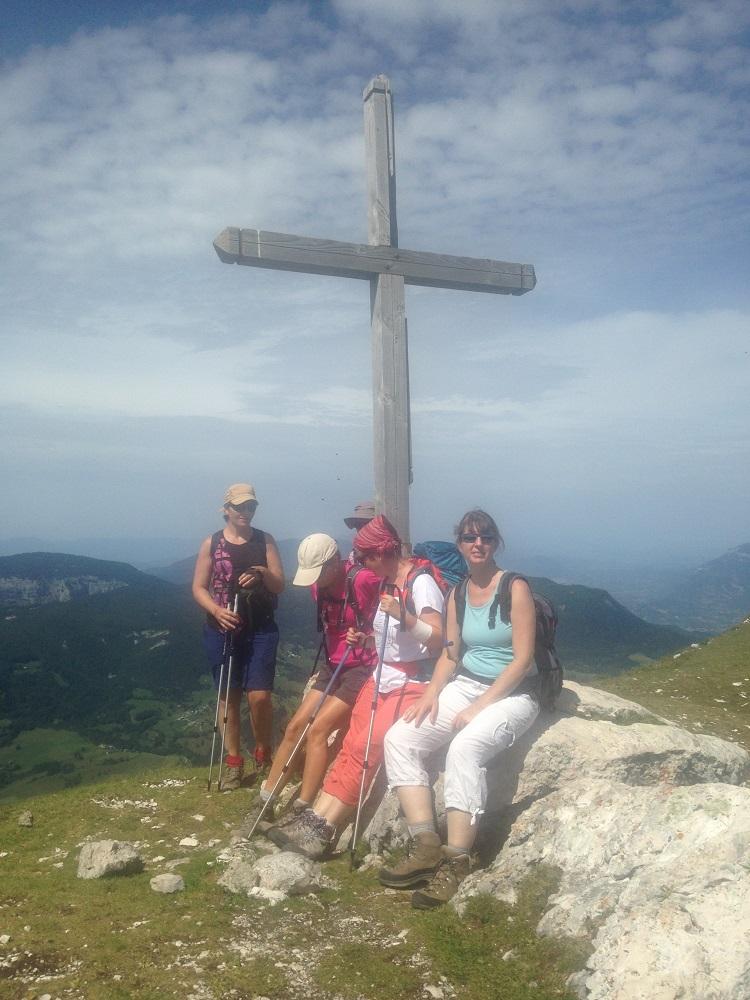 le petit groupe au sommet du Pinet1